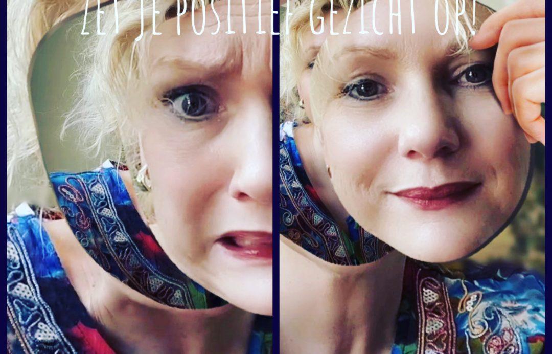 verwijder negatief, zet positief gezicht op